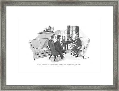 Don't You Think It's Wonderful How John's Other Framed Print