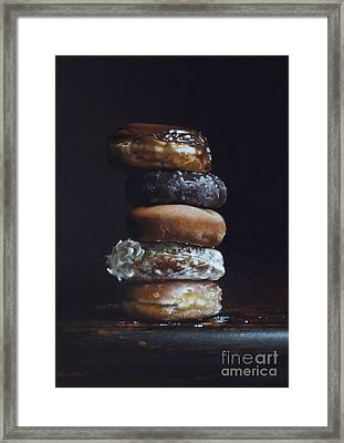Donut Tower No.3 Framed Print