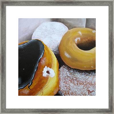 Donuts 2 Framed Print by Pamela Burger