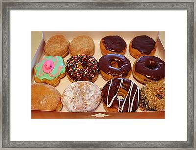 Donuts Framed Print by Paulette Thomas