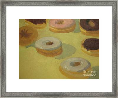 Donuts Framed Print by Sharon Hollander