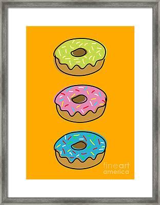 Donuts Framed Print by Shawn Hempel