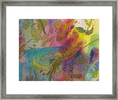 Doodle With Color Framed Print