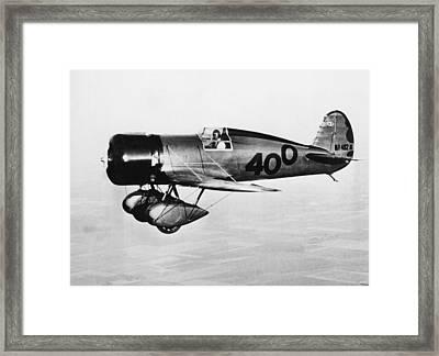 Doolittle's 400 Racer Plane Framed Print by Underwood Archives