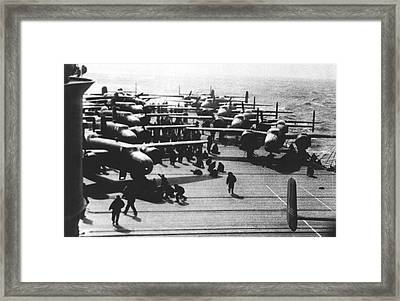 Doolittle's Raider Planes Framed Print by Underwood Archives