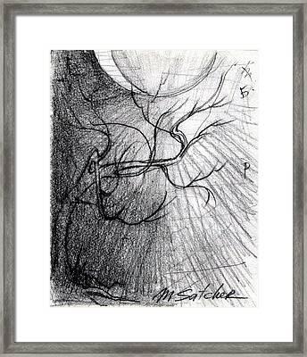Doom Moon  Framed Print by Mikhail Savchenko