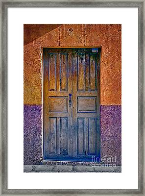 Door 002 Framed Print