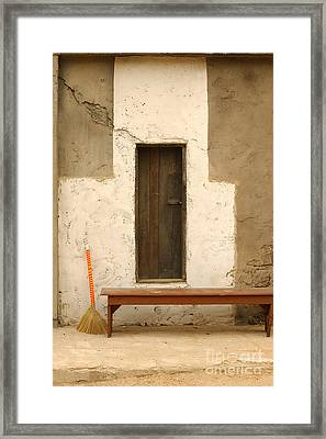 Door And Broomstick Framed Print by Micah May