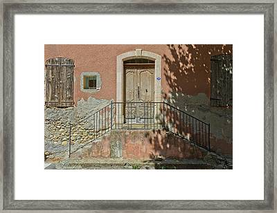Door And Shadow Framed Print