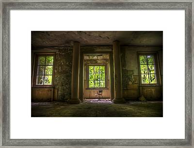 Door And Winddows Framed Print by Nathan Wright
