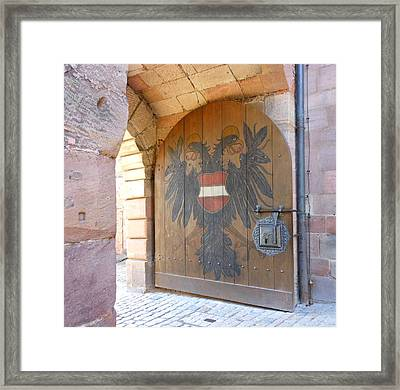 Framed Print featuring the photograph Door At Nuremberg by Kay Gilley