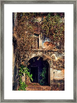 Door At Old Portuguese House. Goa. India Framed Print by Jenny Rainbow
