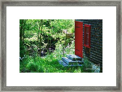 Door At The Grist Mill Framed Print