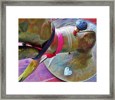 Door Bell Framed Print by Dale Michels