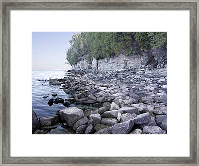 Door Bluff Headlands Cp Framed Print by Jim Baker