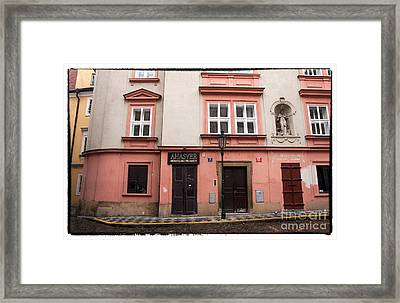 Door Choices In Prague Framed Print by John Rizzuto