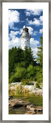 Door County Cana Island Vertical Panorama Framed Print by Christopher Arndt
