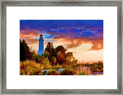 Door County Cana Island Wisp Framed Print by Christopher Arndt