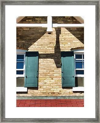 Door County Eagle Bluff Lighthouse Shutters Framed Print