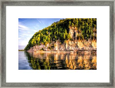 Door County Ellison Bay Bluff Framed Print