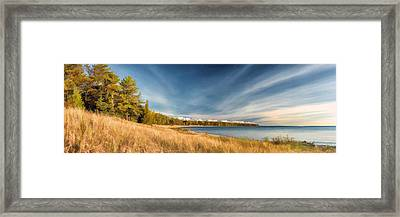 Door County Europe Bay Panorama Framed Print by Christopher Arndt