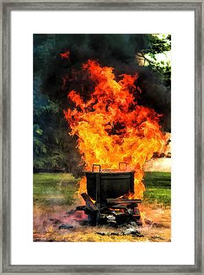 Door County Fish Boil Framed Print by Christopher Arndt