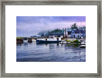 Door County Gills Rock Fishing Village Framed Print