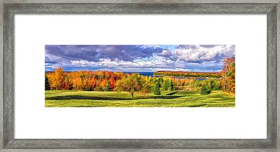 Door County Grand View Scenic Overlook Panorama Framed Print