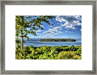 Door County Horseshoe Island Framed Print