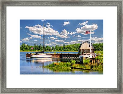 Door County Washington Island Jackson Harbor Framed Print by Christopher Arndt