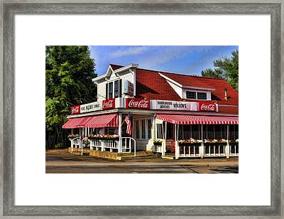 Door County Wilson's Ice Cream Store Framed Print