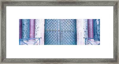 Door Detail St Marks Square Venice Italy Framed Print