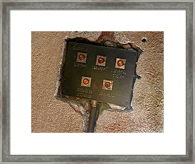 Door Entry Buzzers Framed Print