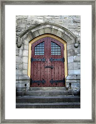 Door From The Battle Of Stoney Creek Monument Framed Print by Danielle  Parent
