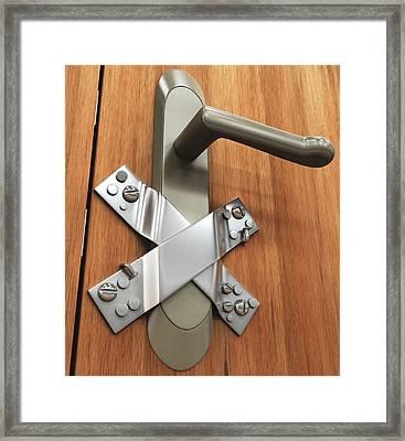 Door Handle Framed Print