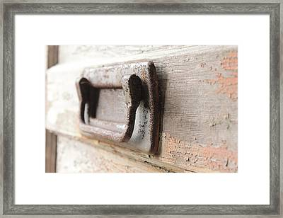 Door Handle Framed Print by Wayne Thompson