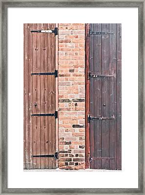 Door Hinges Framed Print by Tom Gowanlock