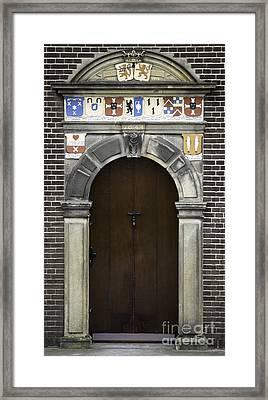 Door In Kinderdijk Framed Print by Teresa Mucha
