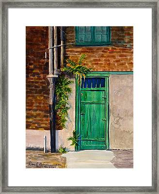 Door In New Orleans Framed Print