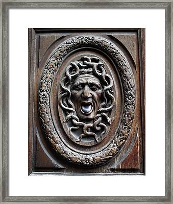Door In Paris Medusa Framed Print