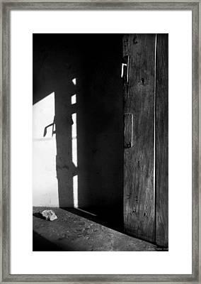 Door In Silhouette  Framed Print