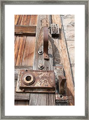 Framed Print featuring the photograph Door Knob by Minnie Lippiatt