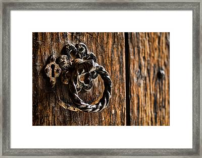 Door Knocker Framed Print