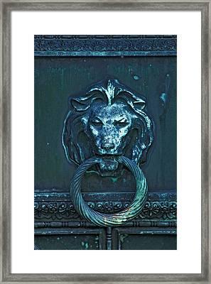 Door Knocker Framed Print by Rowana Ray