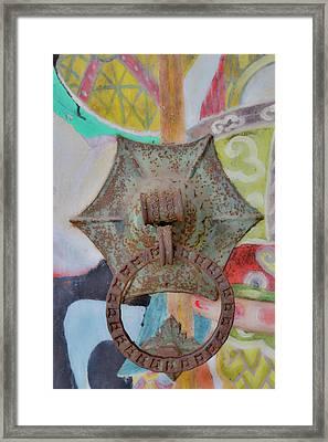 Door Knocker, She County, Temple Framed Print by Darrell Gulin