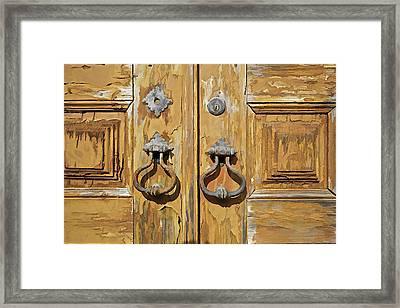 Door Knockers Of Portugal Framed Print