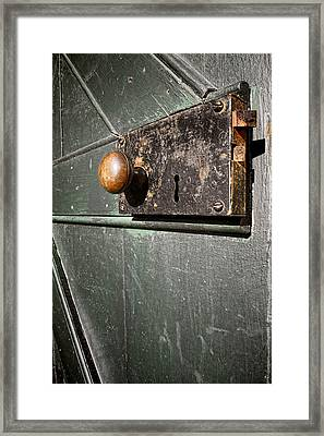 Door Lock Framed Print by Olivier Le Queinec