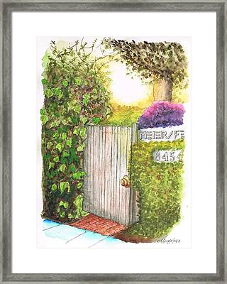Meir Studio Door In Melrose Place, Los Angeles, California Framed Print
