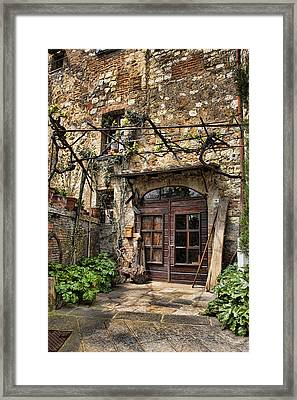 Framed Print featuring the photograph Door Montepulciano Italy by Hugh Smith