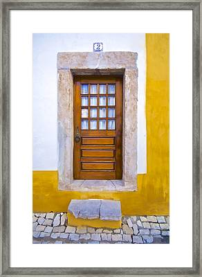 Door Number Two Framed Print by David Letts